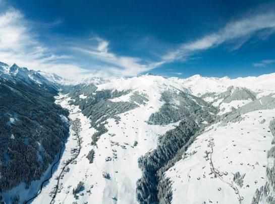 Luftbild Tuxertal Winter Pinzger