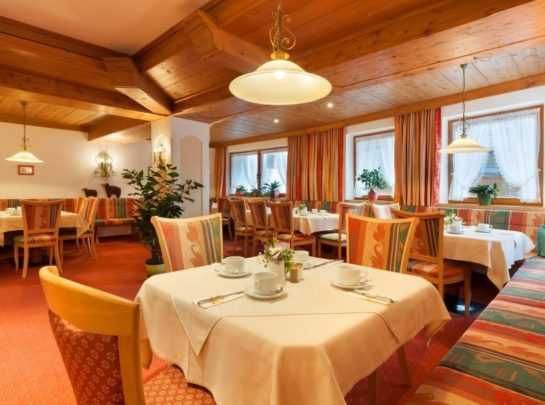 Hotel Pinzger Tux dining room breakfast hall halfboard